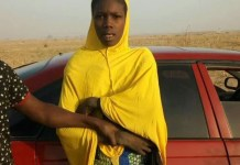 FILE PHOTO: Amina a female suicide bomber who said Boko Haram paid her a paltry N200 to carry out an attack