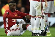 Pogba ruled out of action due to hamstring injury