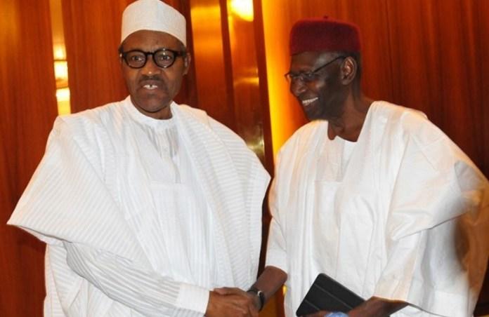 President Muhammadu Buhari and his Chief of Staff, Abba Kyari