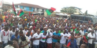 Indigenous People of Biafra (IPOB) protesting