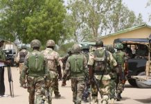 The Nigerian Army searches UN staff house