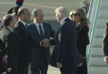 Trump arrives in Italy