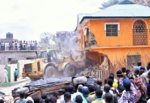 Demolition of illegal structures begins in Edo state