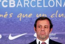 Sandro Rosell was Barcelona president from 2010 to 2014