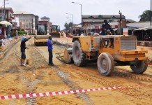Charity Road in Abule Egba during rehabilitation
