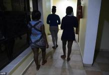 Prostitutes leave a hotel in Benin City, Nigeria's capital of illegal migration. About 37,500 Nigerians arrived in Italy by boat in 2016, more than from any other African country, and most of them were from the southern city