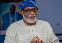 Governor Rotimi Akeredolu of Ondo state has confirmed first coronavirus case