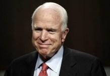 Senator John McCain has banned President Donald Trump from his burial