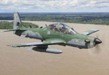 A-29 Super Tucano attack planes