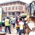 Brown Street in Oshodi, Lagos where the suspected kidnapper was clubbed to death
