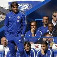 Antonio Conte watches from the touchline after going 3-0 down during the EPL football match between Chelsea and Burnley at Stamford Bridge in London on August 12, 2017.
