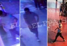 CCTV footage appears to show Abouyaaqoub fleeing the attack on foot