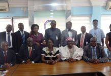 A cross section members of the Chartered Insurance Institute of Nigeria (CIIN) and officials of Babcock University during a collaboration meeting at CIIN Secretariat in Lagos.
