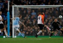 De Bruyne netted his first goal of the season for Manchester City