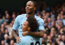 Leroy Sane scored the winning goal as Manchester City ended Liverpool's unbeaten start to the season