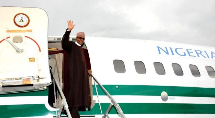 President Muhammadu Buhari will depart for Saudi Arabia on Monday