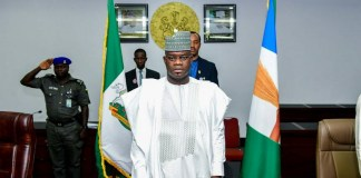Governor Yahaya Bello has been reelected