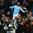 Raheem Sterling celebrates scoring the winner