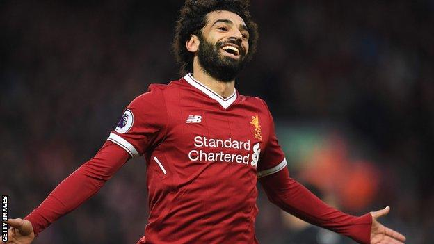 Salah is the current Premier League top scorer, with 13 goals