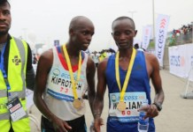 French athlete Abraham Kiprotcih has won the 2018 edition of Lagos City Marathon