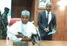 Governor Aminu Masari of Katsina state gave an update on coronavirus