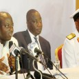 FILE: Director-General, NIMASA, Patrick Akpolobokemi; Executive Director, Maritime Safety and Shipping Development, Capt Bala Agaba and Commander Maritime Guard Command, Commodore Ebony Aneke who is one of the two naval officers to forfeit properties to FG
