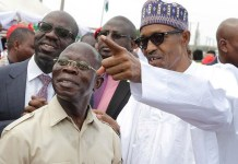 President Muhammadu Buhari and Comrade Adams Oshiomhole