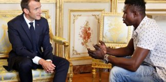 Mamoudou Gassama met with President Emmanuel Macron and is expected to get French citizenship for saving a four-year old boy