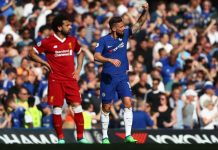 Mohamed Salah was booked for stimulation in Liverpool's 1-0 loss to Chelsea at Stamford Bridge thanks to Olivier Giroud's header dstv gotv