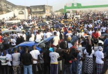 FILE PHOTO: A crowd in Banjul, Gambia