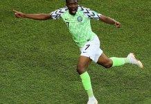 Ahmed Musa scored twice as Nigeria beat Iceland 2-0 in Volgograd