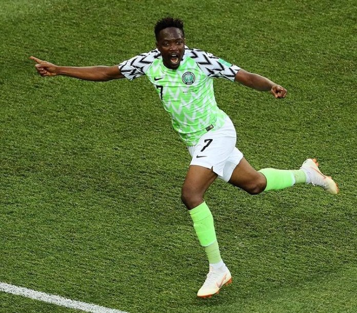 Ahmed Musa scored twice as Nigeria beat Iceland 2-0 in Volgograd