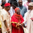 President Buhari (M) met with Urhobo leaders led by HRM Dr. Ogoni Oghoro, President General, Olorogun Moses Taiga and Chief Cyril Ogodo and other Urhobo traditional rulers, the leadership of the Urhobo Progressive Union and Social/Political Leaders