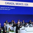 FIFA members voted in favour of the US, Canada and Mexico bid