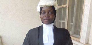 Hijab wearing Firdausi Amasa have been formally called to bar