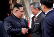 Kim Jong-un has arrived in Singapore two days before summit with US President Donald Trump Vivian Balakrishnan/Twitter