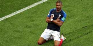 Kylian Mbappe is the second youngest player to score at least two goals in a World Cup game after Pele