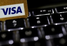 Visa Inc says its services have been restored to normal
