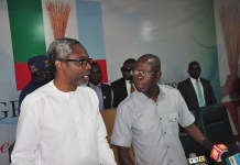 APC national chairman Adams Oshiomhole and Hon. Femi Gbajabiamila