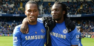 Drogba and Lukaku were both at Chelsea in 2011-12 but never played together - Drogba came off the bench to replace Lukaku on the final day of the season