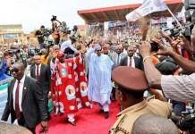 President Muhammadu Buhari campaigning for Kayode Fayemi in Ekiti