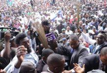Asiwaju Bola Tinubu was in Ikot Ekpene to receive Senator Godswill Akpabio