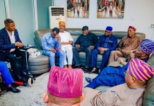 Governor Abiola Ajimobi met with Yinka Ayefele over the demolition of The Music House