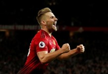 Luke Shaw scored the winning goal as Manchester United beat Leicester City 2-1 at Old Trafford
