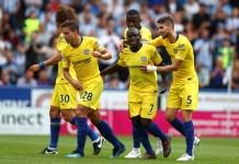 World Cup winner N'Golo Kante scored as Chelsea beat Huddersfield 3-0