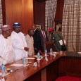 President Muhammadu Buhari held APC caucus meeting with party leaders at the Presidential Villa