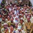 President Muhammadu Buhari welcomed NYSC members to his hometown of Daura in Katsina state