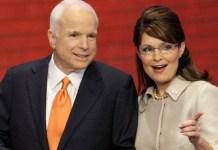 Running mate Sarah Palin has been banned from attending Senator John McCain's funeral