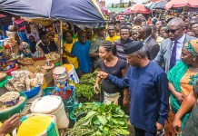 Vice President Yemi Osinbajo, SAN, at Utako Ultra Modern Market for the official Launch of the Trader Moni Program in Abuja