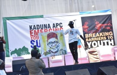 Governor Nasir El-Rufai painting fetches undergraduate Adebayo Seun N2million